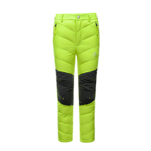 Winter Lightweight Outdoor Sport Snowboard Hiking Climbing Duck Down Pants Boys Girls Leisure Trekking Camping Ski Kids Trousers