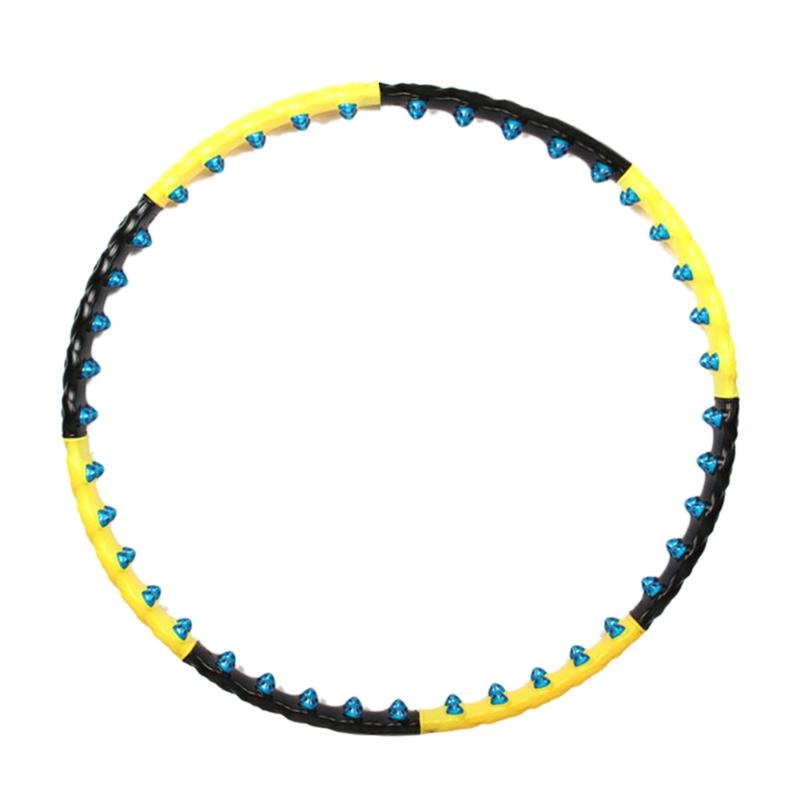 Removable Detachable Double Row Magnet Massage Hula Hoop Multifunction Fitness Equipment Woman Fitness Waist Reduction Hoops<br>