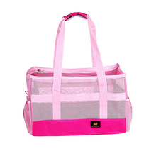 Cute Pink Dog Carrier Summer Pet Dog Carrier Bags Anti Scratch Breathable Mesh Cat Portable Shoulder Bag Cute Puppy Car Bag(China)