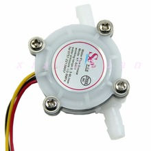 C18 New Hot 1pc Water Coffee Flow Sensor Switch Meter Flowmeter Counter 0.3-6L/min(China)