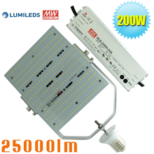 1000W Metal Halide Sodium HID High Pressure Replacement LED Parking Lot Fixture Retrofit Kit 200 Watt Daylight 5700K E39 base