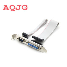 For PCI Slot Header Serial DB9 Pin COM with Parallel DB25 Pin LPT Cable with Bracket for Parallel LPT Printer COM Serial Port