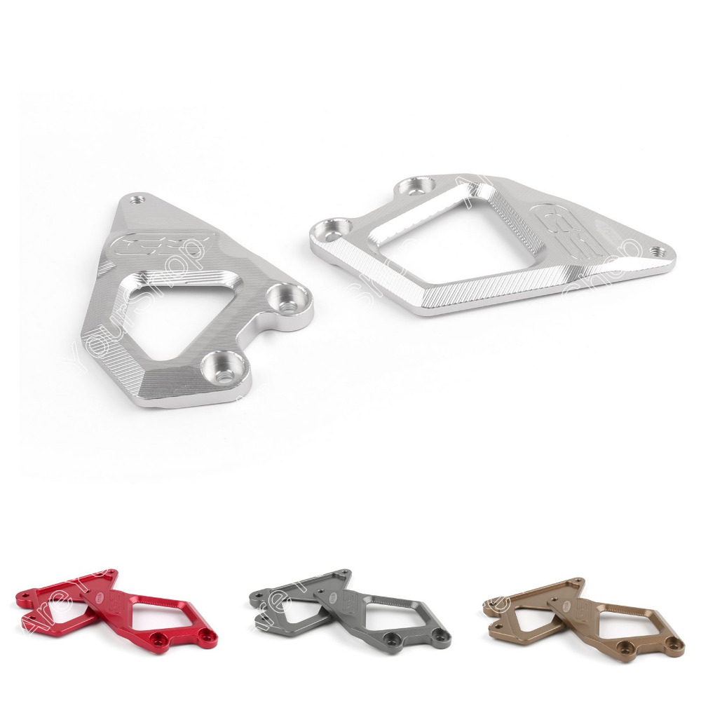 Sale Footrest Protector Foot Pegs Heel Plates Guard For BMW R1200GS 2013 2014 Silver Gray Brown Red<br><br>Aliexpress