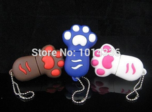 usb flash drive Cute cat paw footprint USB Flash 2.0 Memory Drive Stick Pen Thumb/Car/Pen creative Gift creative Pendrive S3