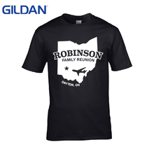 Gildan Free Shipping Men's T Shirt Robinson Family Surname Any Name Can B Added Spring Autumn Funny T-Shirt Topic