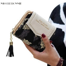 New Fashion Wallet Leather Vintage Womens Bifold Money Bag Card Holder Bifold Female Wallet Purse Clutch Card Holder