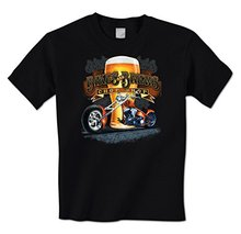 GILDAN man t-shirt Biker & Brews Chop Shop - Motorcycle Chopper Beer Drunk Mens T-Shirt