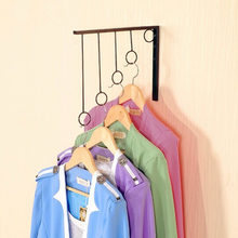 yazi Metal Iron Ring Wall Mounted Clothes Rack Coat Hanger Display Fashion Shop Equipment 30x29cm