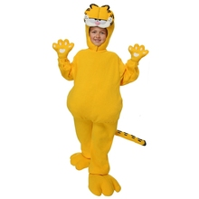 2017 Fancy Children Garfield Costume Funny Halloween Kids Performance Jumpsuit High Quality Party Cosplay