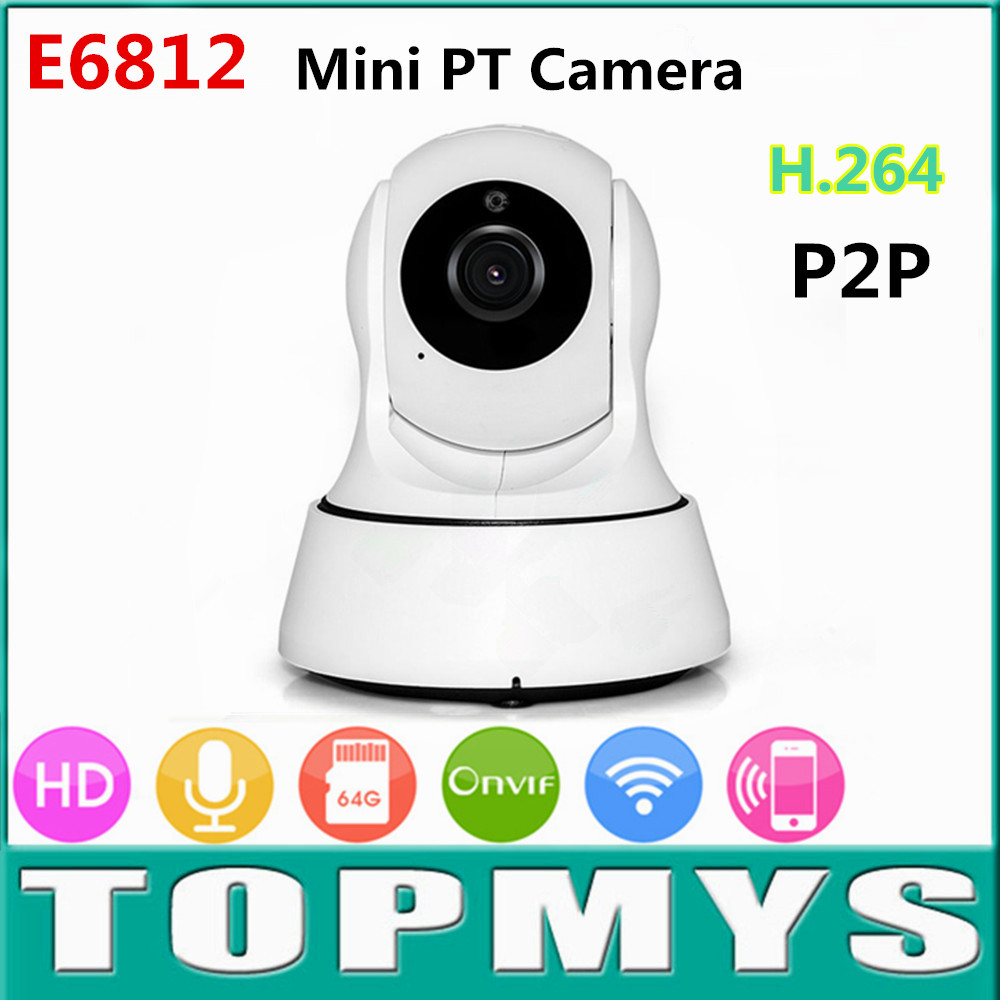 marlboze PT ip camera E6812 720P HD P2P Home security CCTV camera day and night vision ISO Android app remote control mini cam <br>