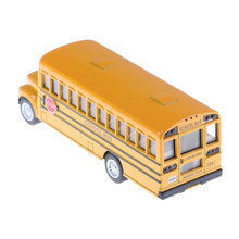 1pc Child toy Fashion students Shuttle Back to school bus alloy carcar model American school bus yellow color(China)