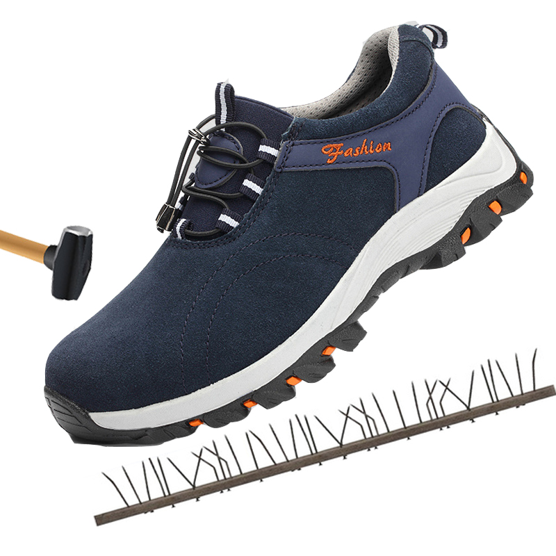 Men's Shoes Xek Men Work Breathable Steel Toe Caps Anti-smashing Stab Safety Shoes Work Shoes Men Summer Labor Insurance Shoes Wyq30 Latest Technology