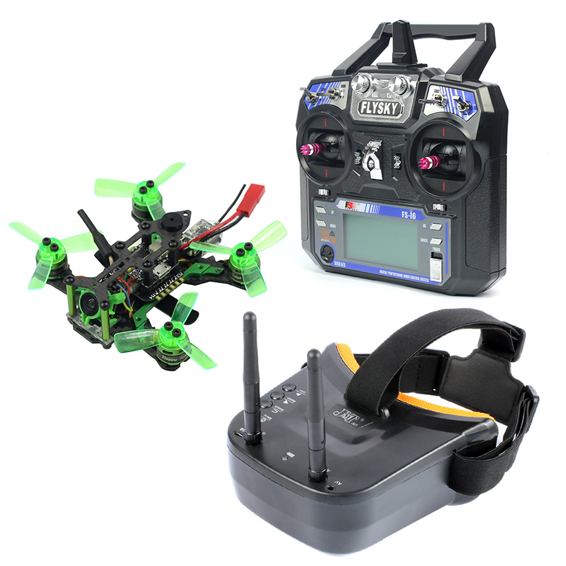 Mantis85 85mm 6CH 2.4G RC FPV Micro Racing Drone Quadcopter RTF 600TVL Camera VTX & Double Antenna 5.8G 40ch Mini Video Goggles(China)