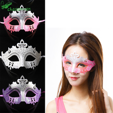 CHASANWAN Halloween Plastic Mask/Crown Venetian Half Face Iron Princess Carnival Masks Masquerade Masks Lingerie Gangnam Style.Q