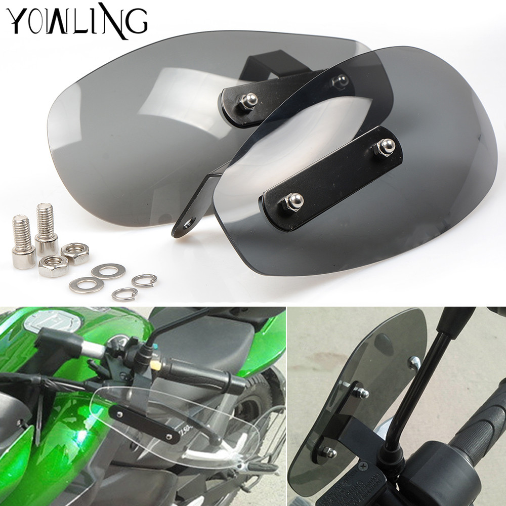 motorcycle wind shield handle hand guard ABS transparent handguards For Honda MSX125 MSX300 MSX 125 MSX 300 MSX125 300 PCX 125/<br>
