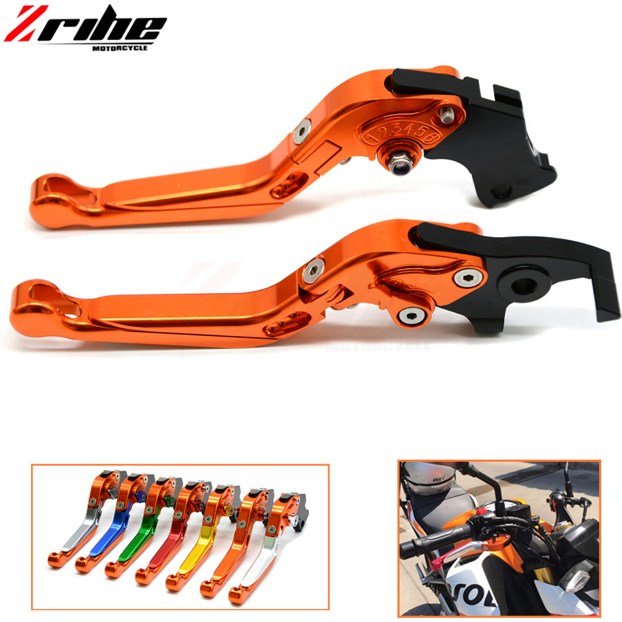 Brake Folding Adjustable Motorcycle accessories Brake Clutch Levers Telescopic folding For ktm 390 Duke/RC390 200 Duke/RC200 RC1<br>