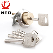 NED Entrance Door Lock Cylinder Brass Copper Core With Smart Keys For Home Gate Furniture Hardware(China)