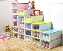 30pcs/lot fashion Multifunction Foldable Strong Plastic Shoes box Storage Box Organizer Drawers Stackable Organizer