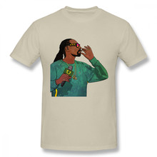 Забавная футболка Snoop Dogg рок-н-ролл Great Rapper Custom Homme футболка(China)