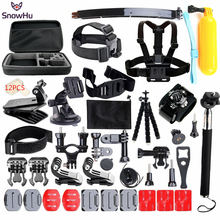 SnowHu 50-in-1 Sports Action Camera Accessories Kit for Gopro HERO 5 5s 4 3+ For SJ4000 Video Camera with Carrying Case GS24(China)
