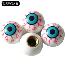 DSYCAR 4pcs/lot Eye Ball Car Bike Moto Tires Wheel Valve Cap Cover Car Styling for Fiat Audi Ford Bmw VW Jeep Honda Toyota skoda