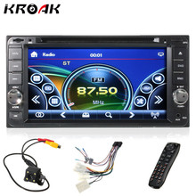 "7"" 2 Din Car DVD Player Bluetooth Stereo Radio USB For Toyota/Hilux/Land/Cruiser/Corolla/Camry With Rear View Camera"