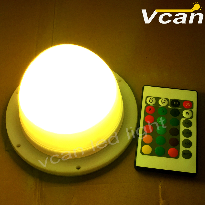 Led system rechargeable battery remote controller waterproof for light bulb as table lamp or under table for anything<br>