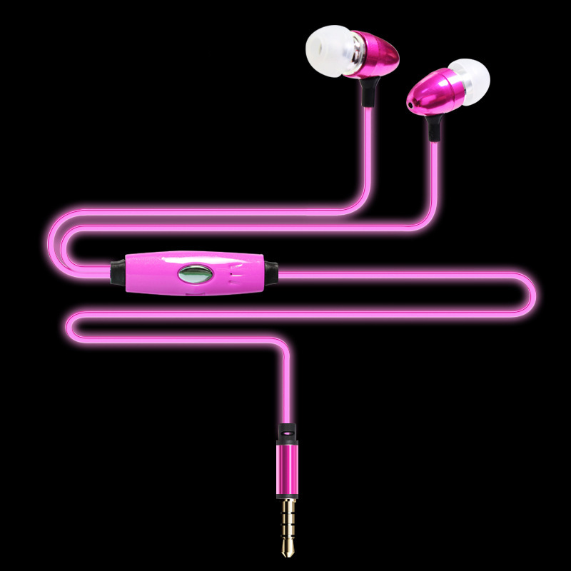 3.5mm Fashion Flow at Night LED Light Strip Wire Handsfree Phone Earphones Stereo Mic in-Ear Headset for Xiaomi Samsung Mp3<br><br>Aliexpress