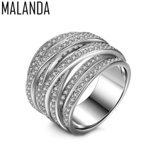 Buy MALANDA Brand New Luxury Clear Zircon Rings Women Fashion Engagement Female Ring Wedding Office Jewelry Mother's Gift 2018 for $7.50 in AliExpress store