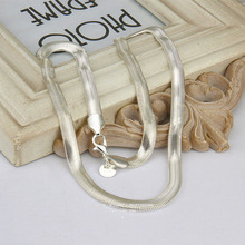 16 inch HOT Bulk Price Silver stamp out going Snake skin/bone Chain Necklace Herringbone Necklace for man and woman Fine A195c