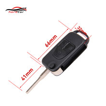 Flip Remote Car Key Shell Fit MERCEDES BENZ 3 Button Switchblade Fob ML S C KEY-B-02