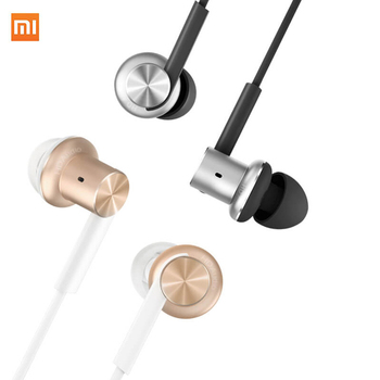 Original Xiaomi Piston Earphones Xiaomi Hifi InEar Stereo with Microphone for Phones Iphone Samsung Huawei Meizu 3.5mm Universal