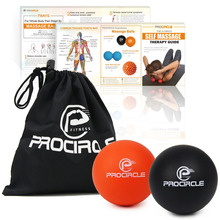 PROCIRCLE Massage Lacrosse Balls for Myofascial Release Trigger Point Therapy Muscle Knots and Yoga Therapy Set of 2 Firm Balls