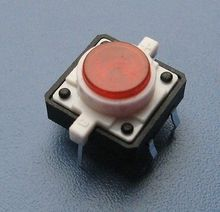 Illuminated Tact Switch Push Button Pushbutton With LED (12X12)-Blue/red/green/white/yellow 10Pack