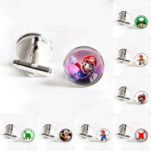 419c8d118cd Super Mario Bros cufflinks Nintendo Mushroom Silver men shirt cufflinks  bouton manchette men groomsmen gifts wedding cufflinks