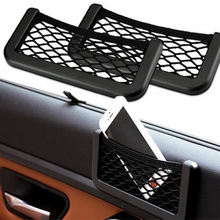 FFFAS Car Wall Net Storage Bag cellphone Stand Holder Pocket Viechle Door Organizer for iPhone 5 5S 6 6 Plus Samsung LG(China)