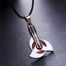 MOSU 20/pcs lot Hot Anime Naruto Necklace Uchiha Obito Kakashi Mangekyou Sharingan Pendant Cosplay Toy Jewelry can Drop-shipping