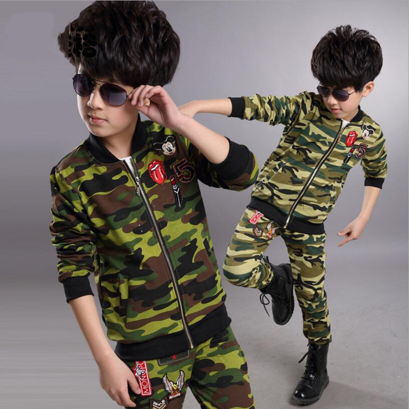 boys clothes 2017 new spring autumn boy sports suits camouflage 2pcs long sleeve outerwear coat+long pants causal kids sets<br><br>Aliexpress