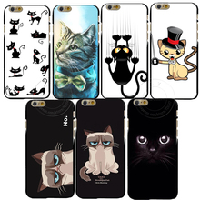 New arrive Grumpy Cute Cat PC Hard Case Cover for Apple iPhone 4 4S 4G 5 5S 5G SE 5C 6 6S 7 Plus 6SPlus Free Shipping