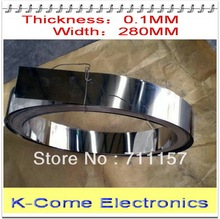 0.1mm Thickness 280mm Width 5M/lot Stainless Steel Sheet Plate Leaf Spring Stainless Steel Foil The Thin Tape