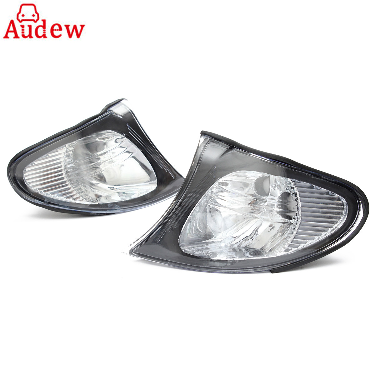 1 Pair Brand New Car Corner Lights Sidelights Lens Clear Left&amp;Right For BMW E46 3-Series 4DR 02-05<br>