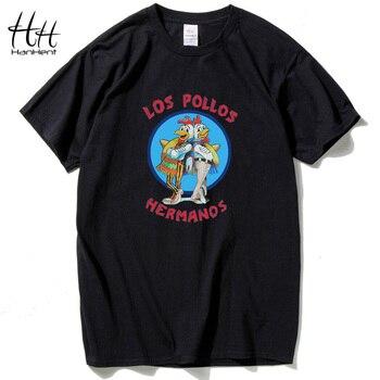 HanHent Irmãos Frango Breaking Bad Los Pollos Hermanos Camisetas Homens 2016 Verão Camisetas de Manga Curta O Pescoço Camisas De Algodão
