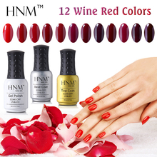 HNM Red Color Gel Nail Polish 8ml UV Gel Polish Gel Lak Vernis Semi Permanent Gel Varnishes Soak Off Gelpolish