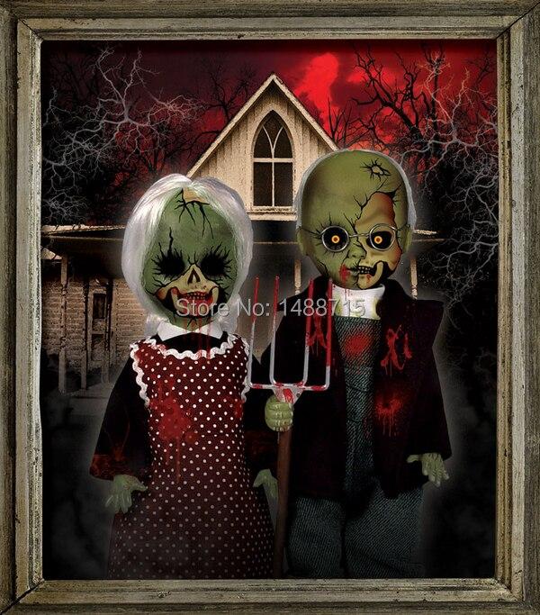Wholesale Retail New Hot  Mezco Living Dead Dolls American Gothic Version Horror 11 PVC Action Figure Toys Original Box<br><br>Aliexpress