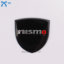 35x34mm Car Styling Emblem Aluminium Alloy Side Stickers Auto Badge For Nissan Nismo Logo Qashqai Murano Maxima Pathfinder Sunny