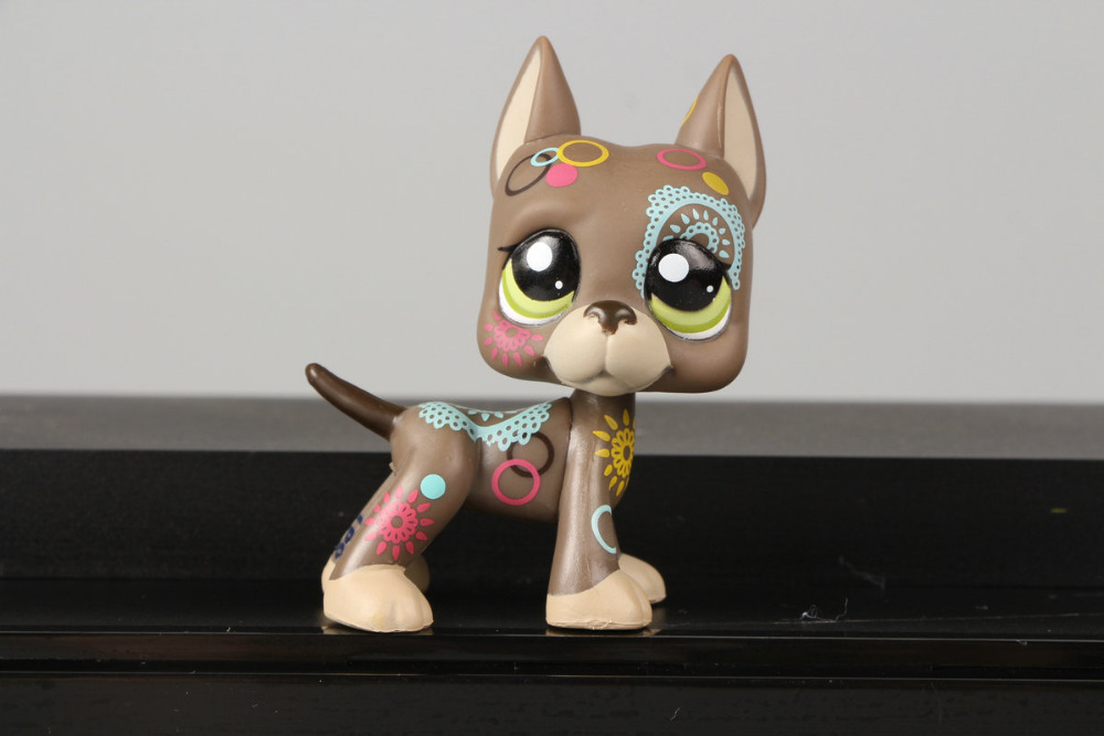 Pet Shop Collection LPS Figure Toy Tattoo Great Dane dog #1439 Nice Gift Kids<br><br>Aliexpress