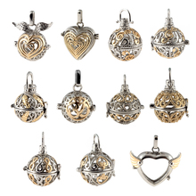 Multiple Shapes Hollow Ball Pendant Aromatherapy Lockets Essential Oil Diffuser Necklace Perfume Locket Two Color engelsrufer(China)