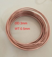 Tool Parts DIY Material OD:3mm, WT:0.5mm Soft Condition Air Condition Refrigerator Copper pipe ,about 5 meters