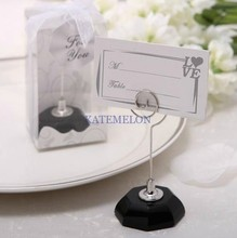 Black Base Crystal Place Card Holder 8PCS/LOT Wedding picture name holder frame