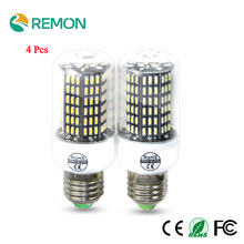 4Pcs LED Corn Bulb Lamp 4014 SMD No Flicker LED Spotlight Bulbs E27 E14 220V LED Lamp 38 55 78 88 140LEDs Smart Power IC